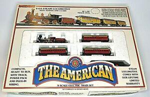 Bachmann THE AMERICAN Electric Train Set N Scale 440 Steam Locomotive