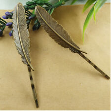 Horquilla pelo pluma color bronce 2 unid.
