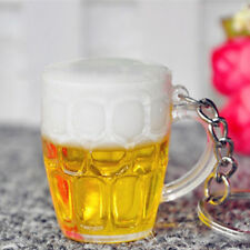 Cute MIni Beer Cup Key Ring Keychain Handbag Car Phone Charm Pendant Women Gift