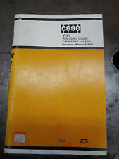 CASE W20 ARTICULATED LOADER OPERATORS MANUAL 9-3341