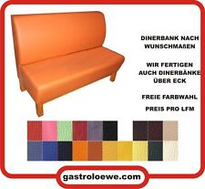 Elegante Dinerbank / Farbe ist wählbar / Gastrobank / Mississippi / Bar / Disco