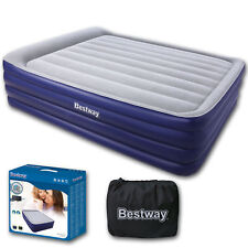 Double Raised Queen Airbed Inflatable Mattress Air Bed Inbuilt Pillow And Pump