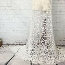 """Lace Tulle Fabric Full Width Embroidered Women Dress Sewing Fabric DIY Craft 51"""""""