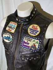 1960s 1970s Biker Vest Harley Davidson Schott Size 40 Vintage Motorcycle Jacket