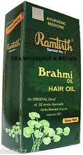 6 x Ramtirth Brahmi Hair Oil w/ Ayurvedic herbs stop hairfall and promote growth