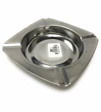 "4"" Square Stainless Steel Cigarette Ashtray"