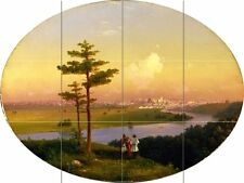 View of Moscow from Sparrow Hills Tile Mural Kitchen Wall Backsplash Art 24x18