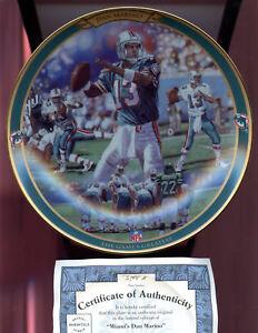 1997 Miami's Dan Marino Dolphins The Game's Greatest Bradford Exchange Plate