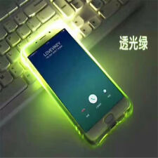 Clear Glow In The Dark Luminous Fluorescence Case Cover For iPhone 7 8 X Samsung