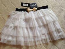 Tutu Skirt, White Size 14. Bow Buckle Broken Fastener. Bnwt
