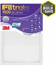 Lot of 6 Filtrete 1500 Ultra Allergen Reduction Electrostatic Pleated Air Filter