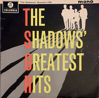 THE SHADOWS GREATEST HITS LP COLUMBIA UK MONO 1960'S PRO CLEANED