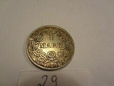 Reichsmark, 1 Mark, Reichsmünze, 1906 Buchstabe A silber  unbehandelt, top (29)