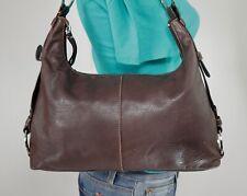 THE SAK Medium Brown  Leather Shoulder Hobo Tote Satchel Purse Bag