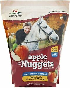 Manna Pro Bite-Size Apple Flavored Nuggets Treats for Horses 4 lbs.