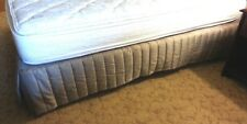 "Grey Satin King Size Bed Skirt 14"" Fall Hotel Quality Pleated"