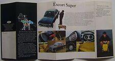 Ford Escort Mk 1 De Luxe Super GT 1968 Original UK Launch Foldout Sales Brochure