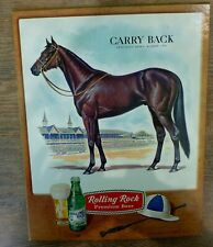 CARRY BACK 1961 KENTUCKY DERBY ETC. WINNER ROLLING ROCK BEER SIGN