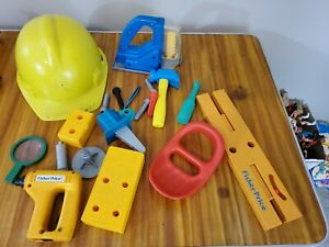 Lot of Vintage Toy Tools *hammer, drill, sander, saw, screws, Fisher-Price, etc