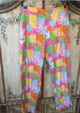 ⛳️Lilly Pulitzer Golf Pants Party Lights CHINESE LANTERNS 32 Hyannis Yacht Club