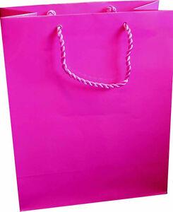 10 x Gloss Laminate Large Gift Bag - A4 Hot Pink