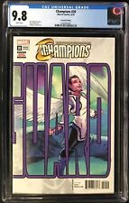 Champions (2018) #20 CGC 9.8 2nd Printing Variant Connecting Cover!