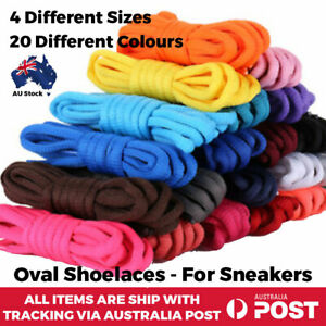 Oval Athletic Shoelaces Sport Sneaker Boots Shoe Laces Strings For Kids Adults