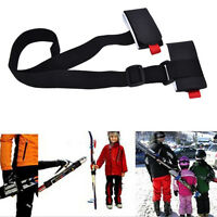 Adjustable Ski Pole Shoulder Hand Carrier Lash Handle Straps Porter Hook Loop P0
