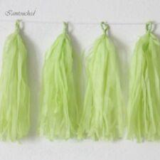 50pc Paper Tassels DIY Tissue Bunting Wedding Birthday Garland Party Decor Props