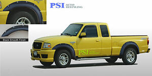 Black Paintable Pocket Rivet Bolt Fender Flares 1993-2011 Ford Ranger Full Set