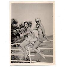 U037 Photographie vintage Originale women pin-up swimsuit beach plage