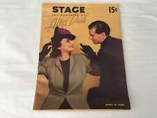 STAGE The Magazine of After Dark April 15, 1939
