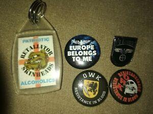 Oi! Punk ROR 28 ISD.Captain Oi! Rock-O-Rama.Rare badges and Keychain. Retaliator