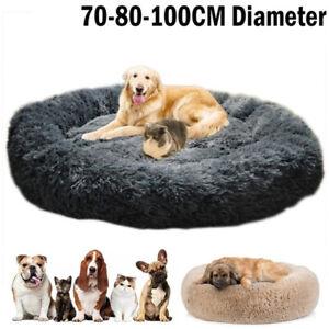 100 cm Diameter Luxury Extra Large Dog Bed Sofawashable Fluffy Round Winter Dog