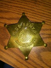 U.S Army Indian Scout Badge. Vintage Military Insignia.