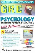 GRE Psychology w/ CD-ROM (REA) - The Best Test Prep for the GRE (Test Preps)