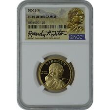 2006-S Sacagawea NGC PF70 Proof Coin Randy'L Teton Authentic Signature