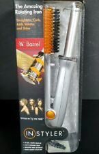 "InStyler Rotating Iron 3/4"" (0.75"") barrel SILVER new open box"