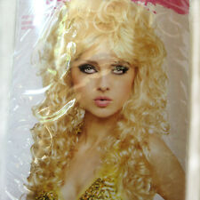 Halloween Costume Blonde Wig Cosplay Long Curly Hair Adult Size