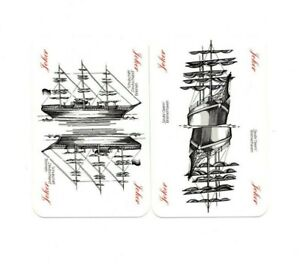 "Pair of RARE MINT ""Old Sailing Ships"" JOKER Playing Cards #16"