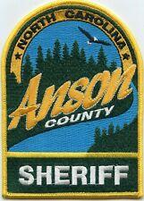 ANSON COUNTY NORTH CAROLINA NC SHERIFF POLICE PATCH