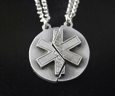 Star of Life Mizpah Prayer Necklace Set (EMS/Nursing Mother's Day Gift)