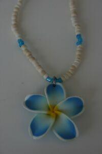 Hawaii Flower Anhänger mit Coco Kette  verschiedene Farben