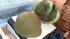 Vietnam helmet steel pot with liner and reverse camo hood