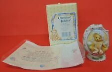 Dated 1997 Cherished Teddies Girl With Chicks Easter Egg Figurine 203017