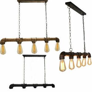 Industrial Black Metal Ceiling Light Fitting 5 Way Bar Modern Shades