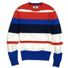Tommy Hilfiger Men's Lightweight Bold Stripe Cotton Sweater