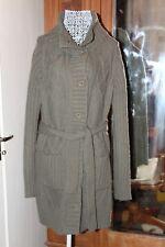 Khaki long wool coat with belt 16,