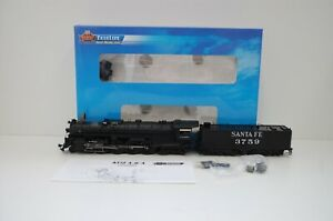 Broadway Limited Blueline 5161 ATSF 4-8-4  #3759 analog / Sound in OVP