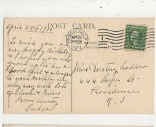 Miss Dorothy Ladlow Hope Street Providence Rhode Island USA 1913  956a